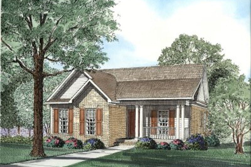 Architectural House Design - Traditional Exterior - Front Elevation Plan #17-1075