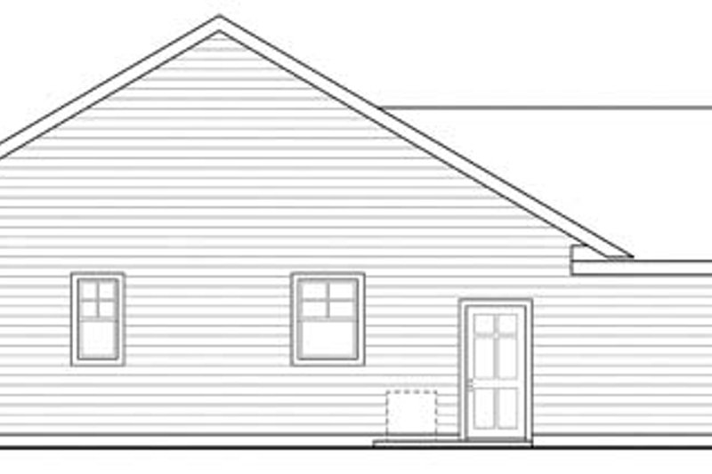Ranch Exterior - Other Elevation Plan #124-862 - Houseplans.com