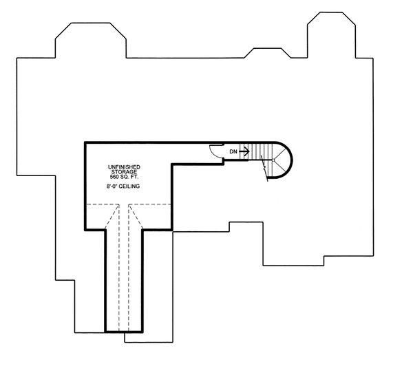 European Floor Plan - Upper Floor Plan #20-2125
