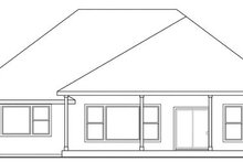 House Plan Design - Traditional Exterior - Rear Elevation Plan #124-870