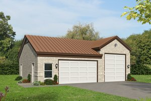Country Exterior - Front Elevation Plan #932-73