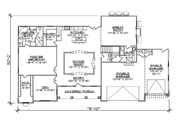 European Floor Plan - Main Floor Plan Plan #5-462