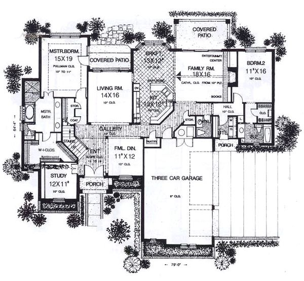 European Floor Plan - Main Floor Plan Plan #310-938