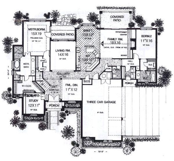 European Floor Plan - Main Floor Plan Plan #310-938