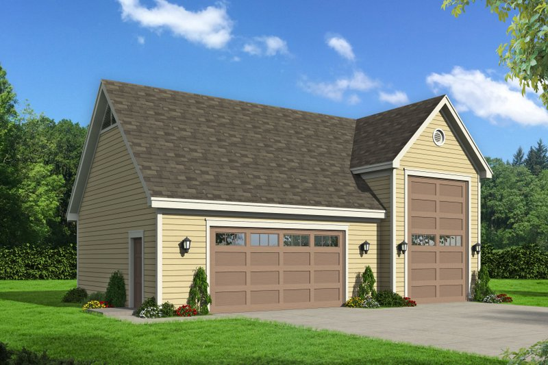 Country Exterior - Front Elevation Plan #932-198