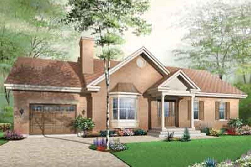 Colonial Exterior - Front Elevation Plan #23-652 - Houseplans.com