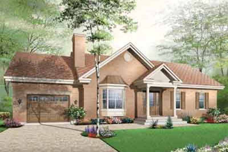 Colonial Exterior - Front Elevation Plan #23-652