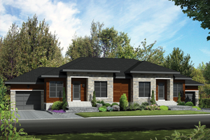 Contemporary Exterior - Front Elevation Plan #25-4521
