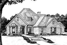 Home Plan - European Exterior - Front Elevation Plan #310-219