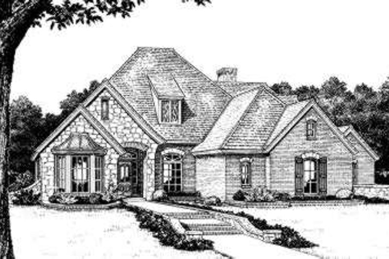 Home Plan - European Exterior - Front Elevation Plan #310-219