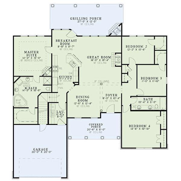 European Floor Plan - Main Floor Plan Plan #17-2418