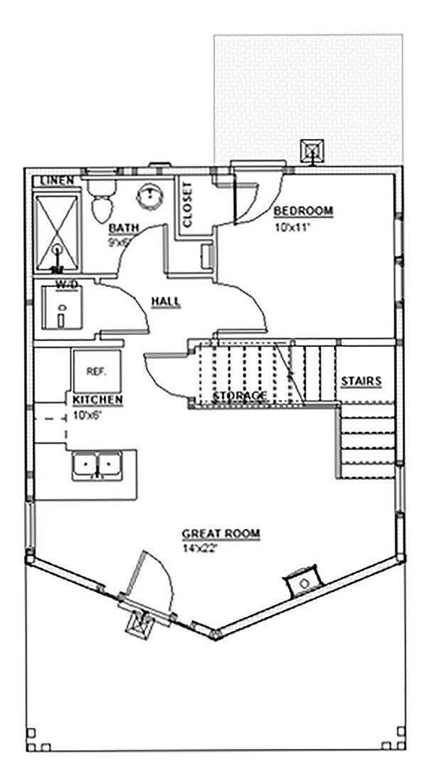 Home Plan - Traditional Floor Plan - Main Floor Plan #895-115