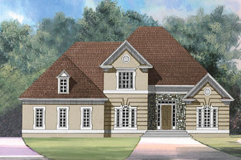 European Exterior - Front Elevation Plan #119-283