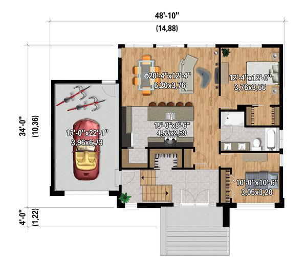 House Design - Contemporary Floor Plan - Main Floor Plan #25-4877