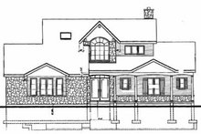 House Plan Design - Country Exterior - Rear Elevation Plan #23-252