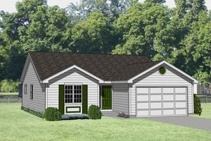 Ranch Exterior - Front Elevation Plan #116-175