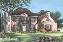 Dream House Plan - European Exterior - Front Elevation Plan #137-137