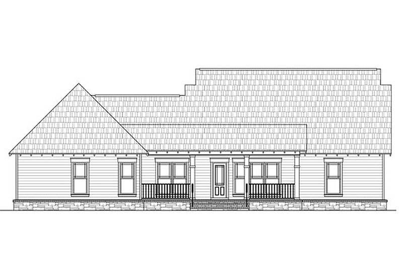 Craftsman Exterior - Rear Elevation Plan #21-289 - Houseplans.com