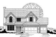 Traditional Style House Plan - 4 Beds 2.5 Baths 2160 Sq/Ft Plan #67-123 Exterior - Front Elevation