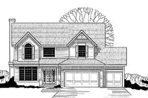 Traditional Exterior - Front Elevation Plan #67-123