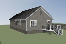Dream House Plan - Cottage Exterior - Rear Elevation Plan #79-135
