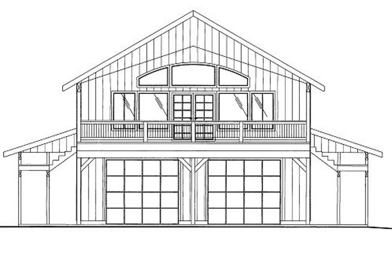 Bungalow Style House Plan - 3 Beds 3 Baths 2250 Sq/Ft Plan #117-807 Exterior - Front Elevation