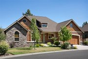 Craftsman Style House Plan - 2 Beds 2 Baths 1728 Sq/Ft Plan #48-103 Exterior - Front Elevation