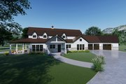 Farmhouse Style House Plan - 3 Beds 3.5 Baths 3414 Sq/Ft Plan #923-115 Exterior - Other Elevation
