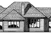 European Style House Plan - 3 Beds 2.5 Baths 2083 Sq/Ft Plan #20-153 Exterior - Rear Elevation