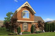 Craftsman Style House Plan - 1 Beds 1 Baths 855 Sq/Ft Plan #132-222 Exterior - Other Elevation