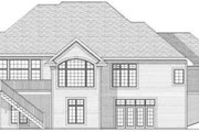 European Style House Plan - 2 Beds 1.5 Baths 2194 Sq/Ft Plan #70-587 Exterior - Rear Elevation