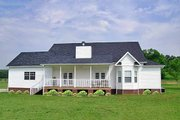 Farmhouse Style House Plan - 3 Beds 2 Baths 1793 Sq/Ft Plan #456-6 Exterior - Rear Elevation