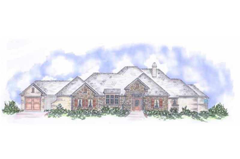 European Exterior - Front Elevation Plan #410-354