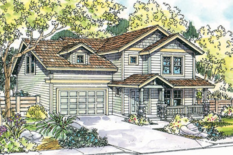 Exterior - Front Elevation Plan #124-719