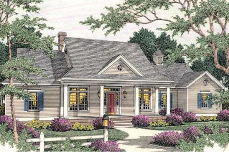 Traditional Exterior - Front Elevation Plan #406-269 - Houseplans.com
