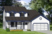 Traditional Style House Plan - 4 Beds 2 Baths 1550 Sq/Ft Plan #116-195 Exterior - Front Elevation