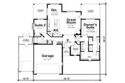 Craftsman Style House Plan - 2 Beds 1.5 Baths 1595 Sq/Ft Plan #20-2336 Floor Plan - Main Floor
