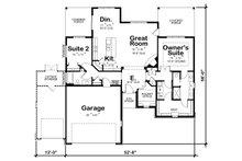 Craftsman Floor Plan - Main Floor Plan Plan #20-2336