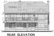 Traditional Style House Plan - 4 Beds 2 Baths 1852 Sq/Ft Plan #18-9242 Exterior - Rear Elevation