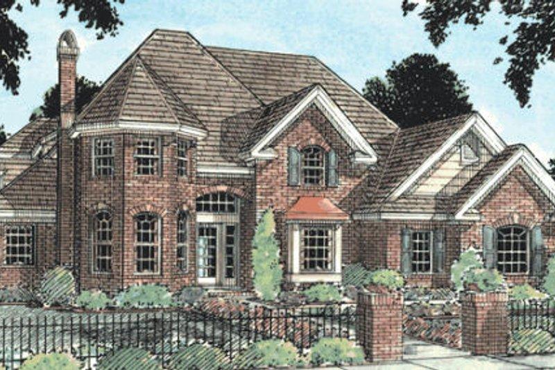 House Plan Design - European Exterior - Front Elevation Plan #20-231
