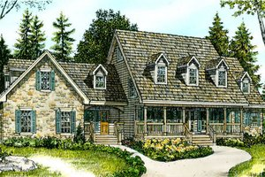 Country Exterior - Front Elevation Plan #140-109