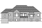 European Style House Plan - 2 Beds 2.5 Baths 2319 Sq/Ft Plan #51-260 Exterior - Rear Elevation