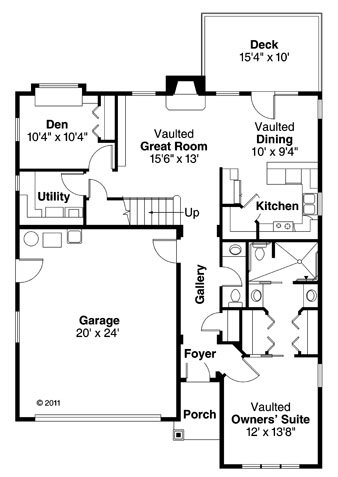 Traditional Floor Plan - Main Floor Plan Plan #124-860