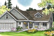 Home Plan - Traditional Exterior - Front Elevation Plan #124-365