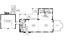 Mediterranean Floor Plan - Main Floor Plan Plan #1058-174