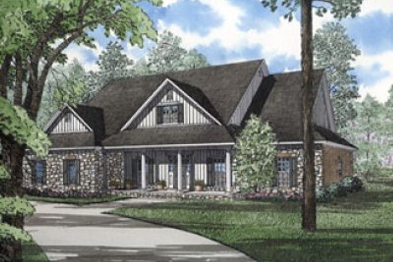Architectural House Design - Traditional Exterior - Front Elevation Plan #17-244