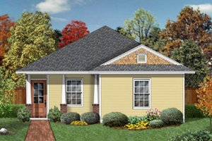 Cottage Exterior - Front Elevation Plan #84-449
