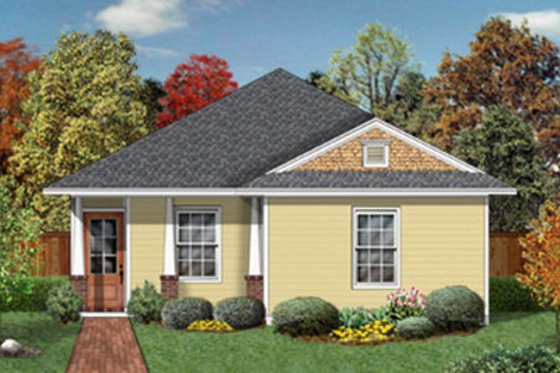 Cottage Exterior - Front Elevation Plan #84-449