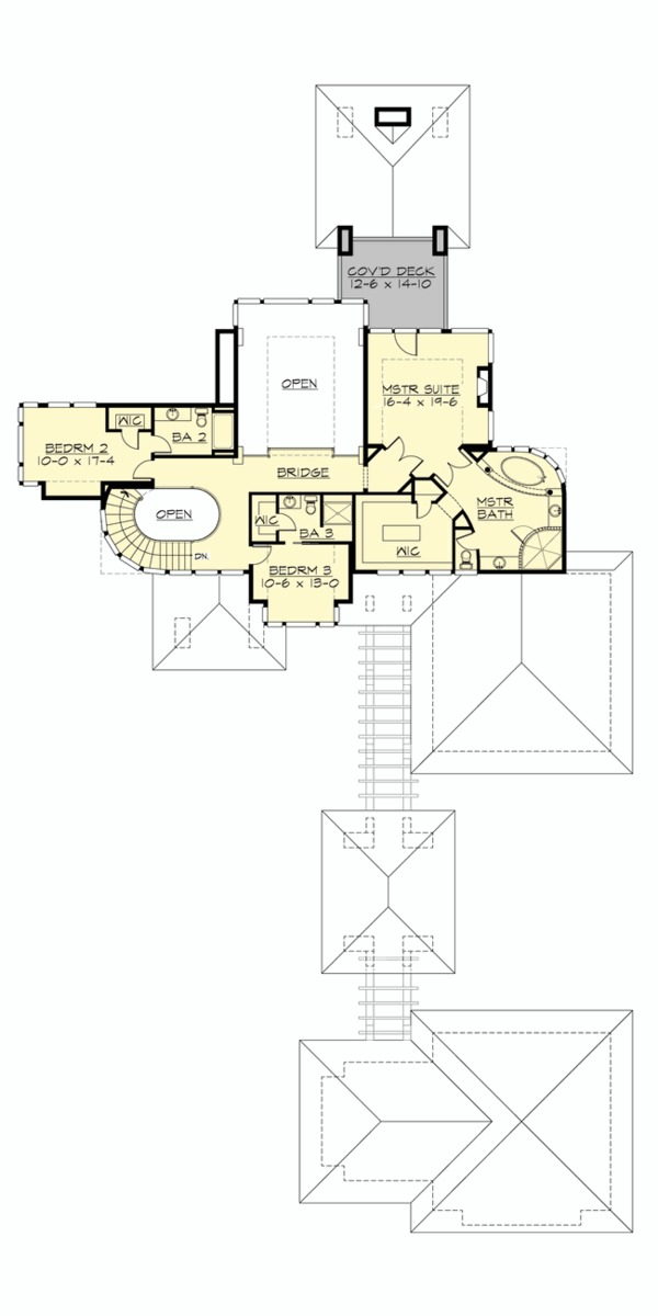 Prairie Floor Plan - Upper Floor Plan Plan #132-566