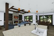 Craftsman Style House Plan - 4 Beds 3.5 Baths 3690 Sq/Ft Plan #1069-12 Interior - Family Room